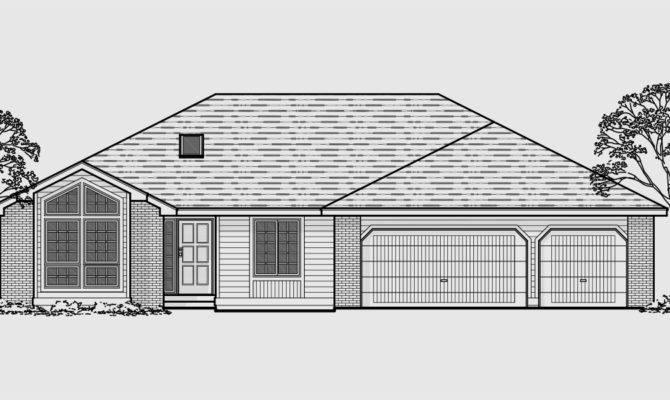 Story House Plans Basement Car Garage Home