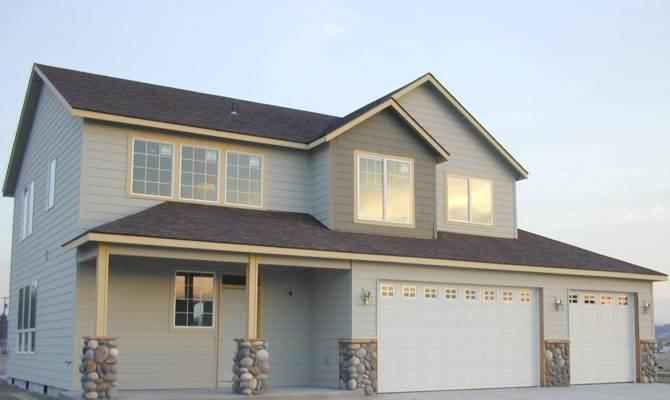 Story House Plans Garage Under