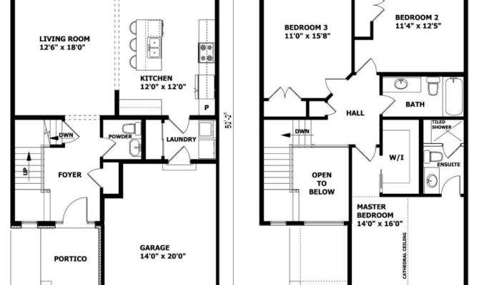 Story House Plans Master Second Floor Home