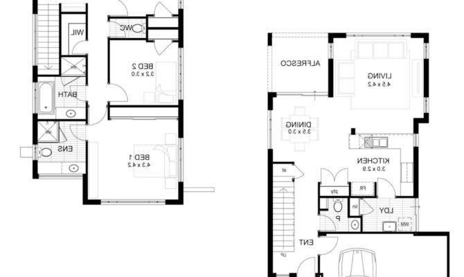 Story House Plans Narrow Lot