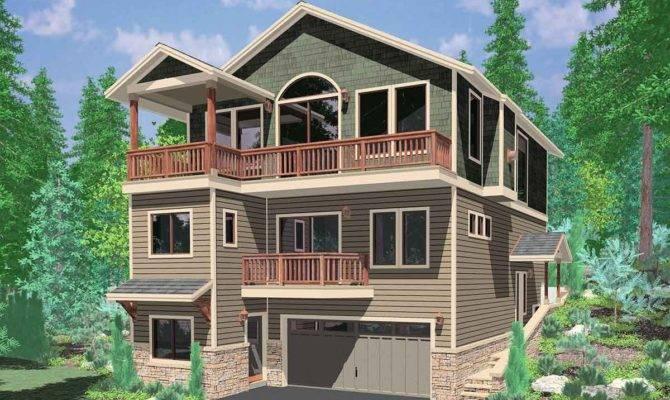 Story House Plans Walkout Basement Awesome Amazing
