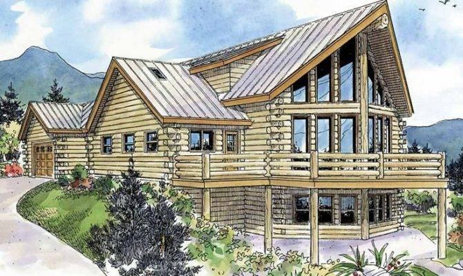 Story Log Home Plan Dream Pinterest