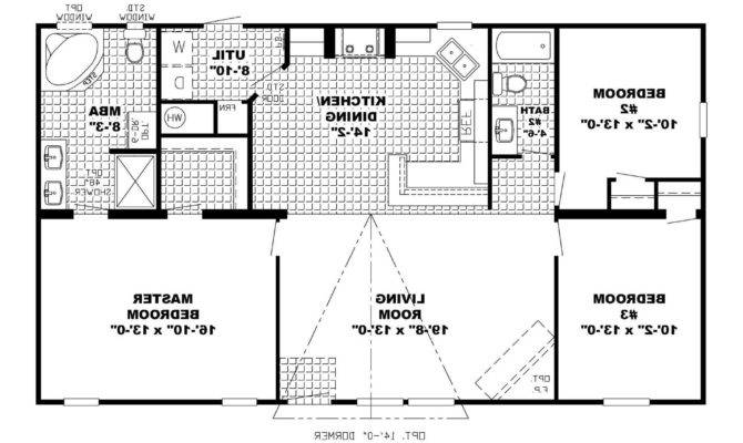 Story Open Floor Home Plans