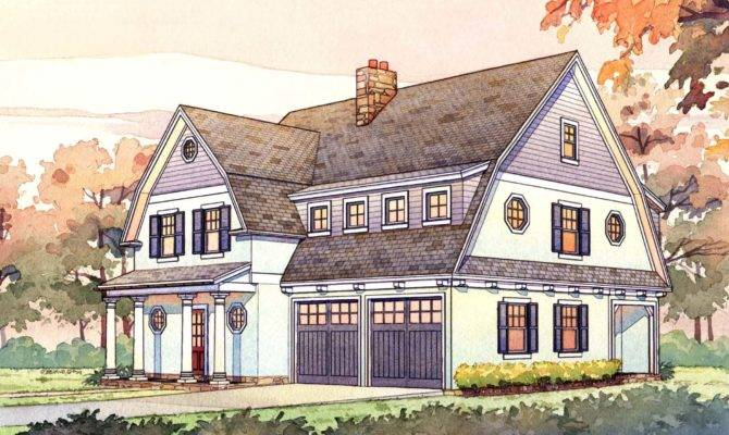 Story Passive Solar Gambrel House Plan