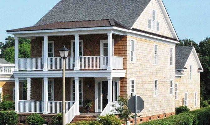 Story Shingled Beach House Plan
