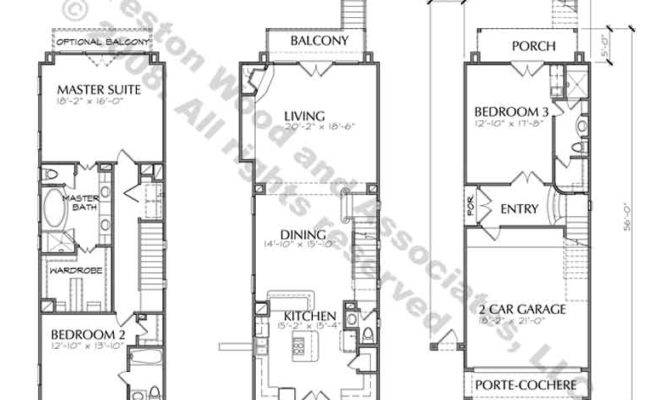 Story Townhouse Balcony Floor Plan