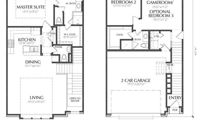 Story Townhouse Floorplan Dallas