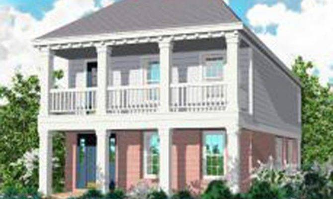 Story Traditional Plan Perfect Narrow Lot House Plans