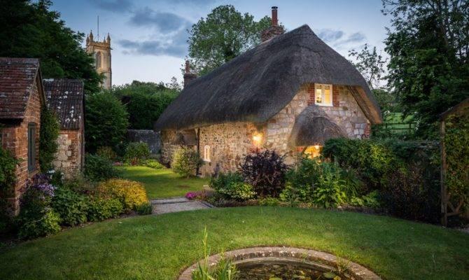 Storybook English Cottage Inside Faerie Door