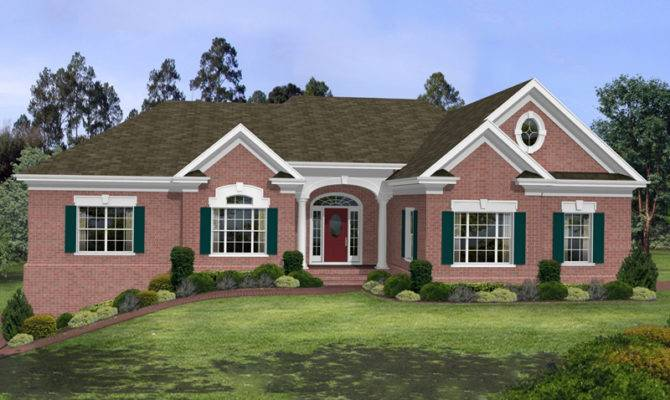 Stovall Park Brick Ranch Home Plan House Plans