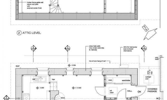 Straw Bale Home Plans Story Strawbale Autocad