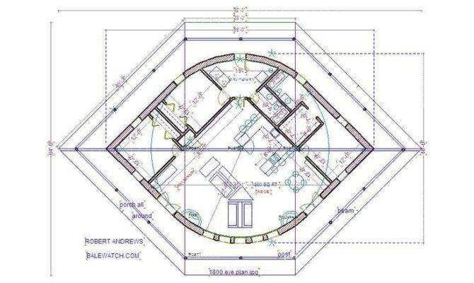 Straw Bale House Plan Eye Earth Yurt Frame Etc