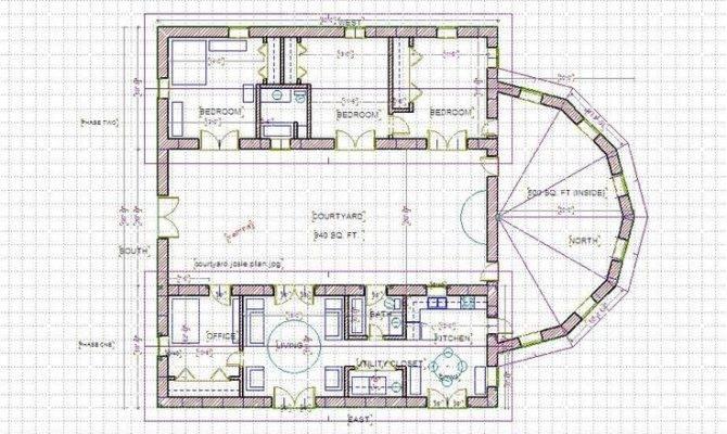 Straw Bale House Plan Pinterest