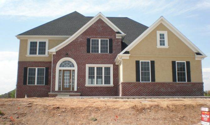 Stucco Brick Homes Stone