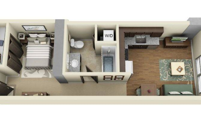 Studio Apartment Floor Plans Futura Home Decorating