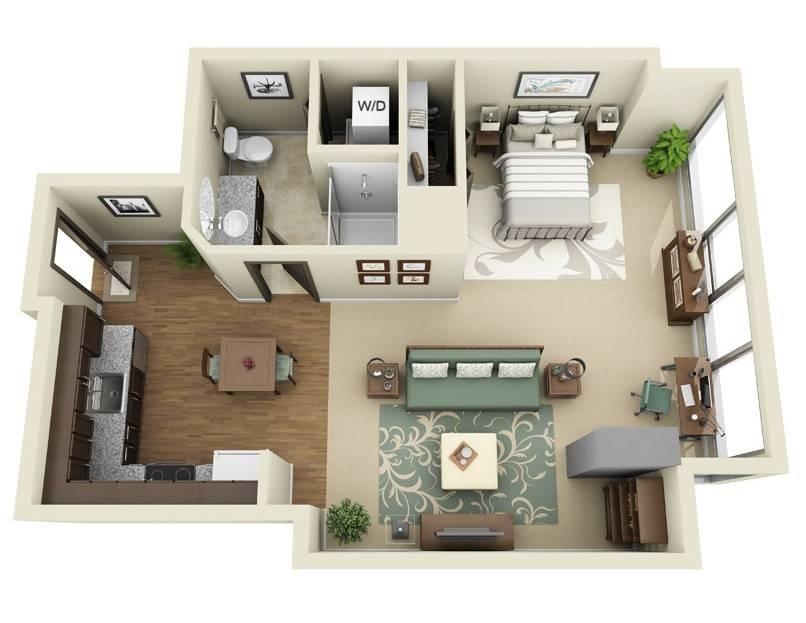 Studio Apartment Floor Plans House Plans 83212