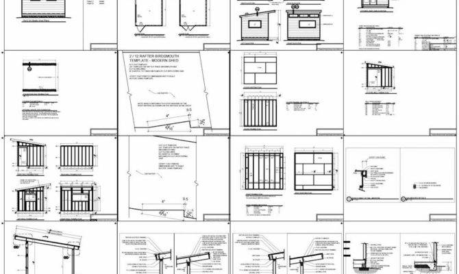 Studio Shed Plans Office Modern