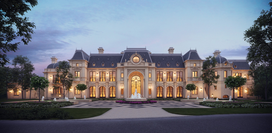 Stunning French Chateau Design Rendering Homes
