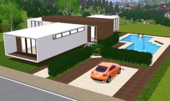 Stunning Sims Cheap House Architecture Plans