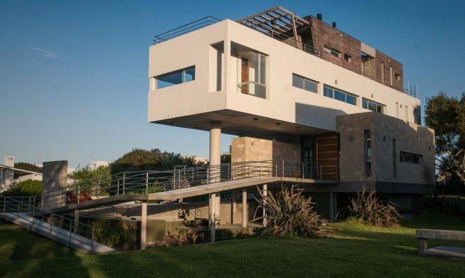 Stunning Sloping House Design Inspiring Plan Home