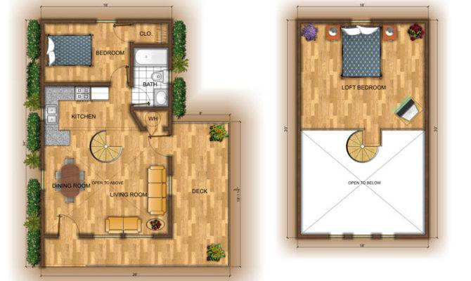 Stunning Small Cabin Plans Loft