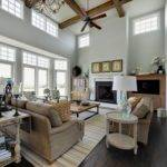 Stunning Two Story Room Painted Crisp White Gorgeous