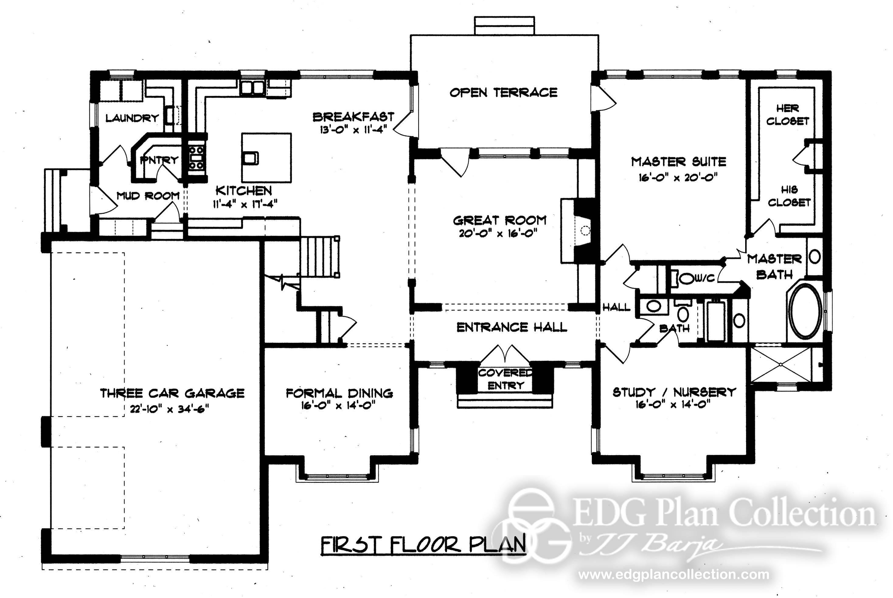 Style English Manor Tudor House Plans 13678
