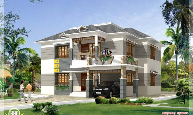 Style Home Plan Elevation Kerala Design Floor Plans