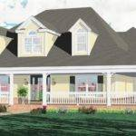 Style Homes Wrap Around Porch Country Interior