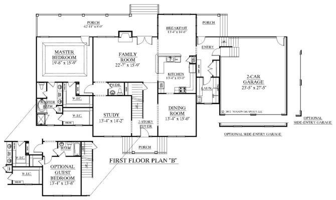 Style House Plan Open Living Space Bedrooms Master Suite House Plans 12679