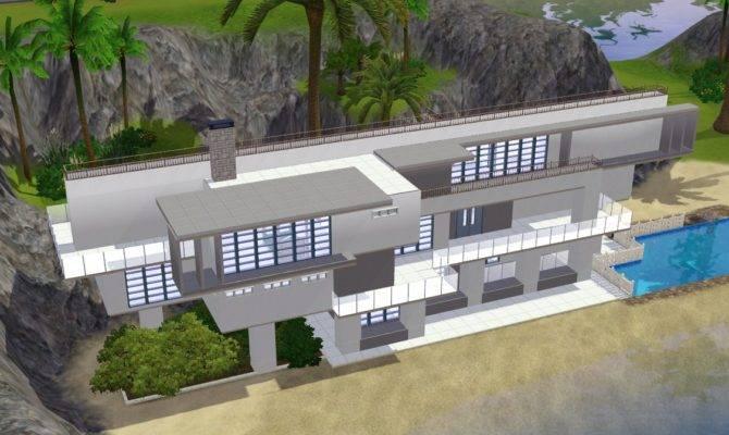 Style Sims Beach House Blueprints All Design