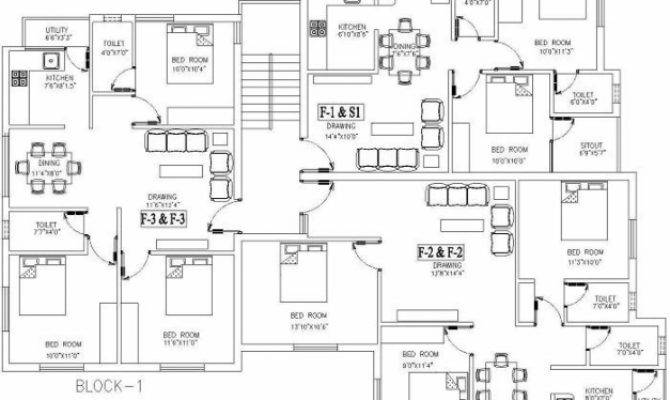 Stylish Autocad House Plans Residential Building