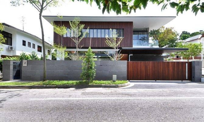 Stylish Bungalow Inspired Residence Singapore Sunset Terrace House