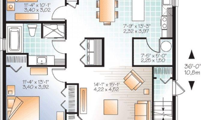 Stylish Contemporary Triplex House Plan