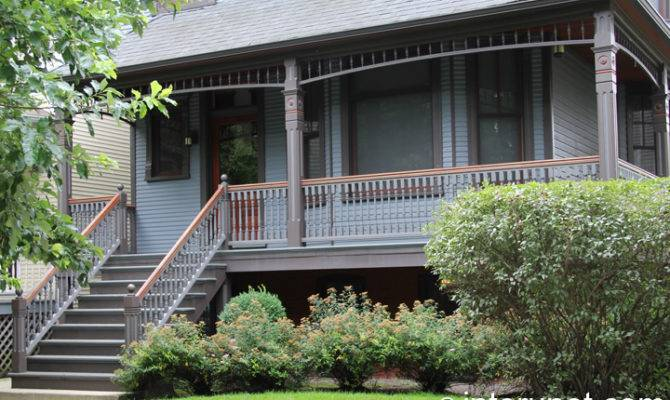 Stylish Covered Front Porch Interunet