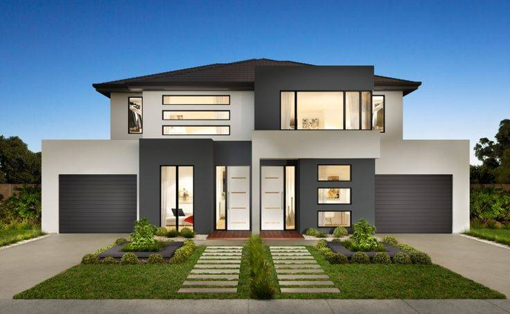 Stylish Modern Duplex House Design Exterior Pinterest House Plans 60845