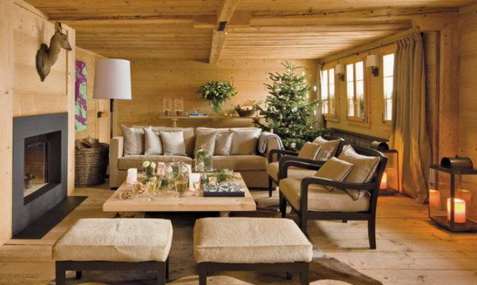 Stylish New Year Decorations Chalet Style