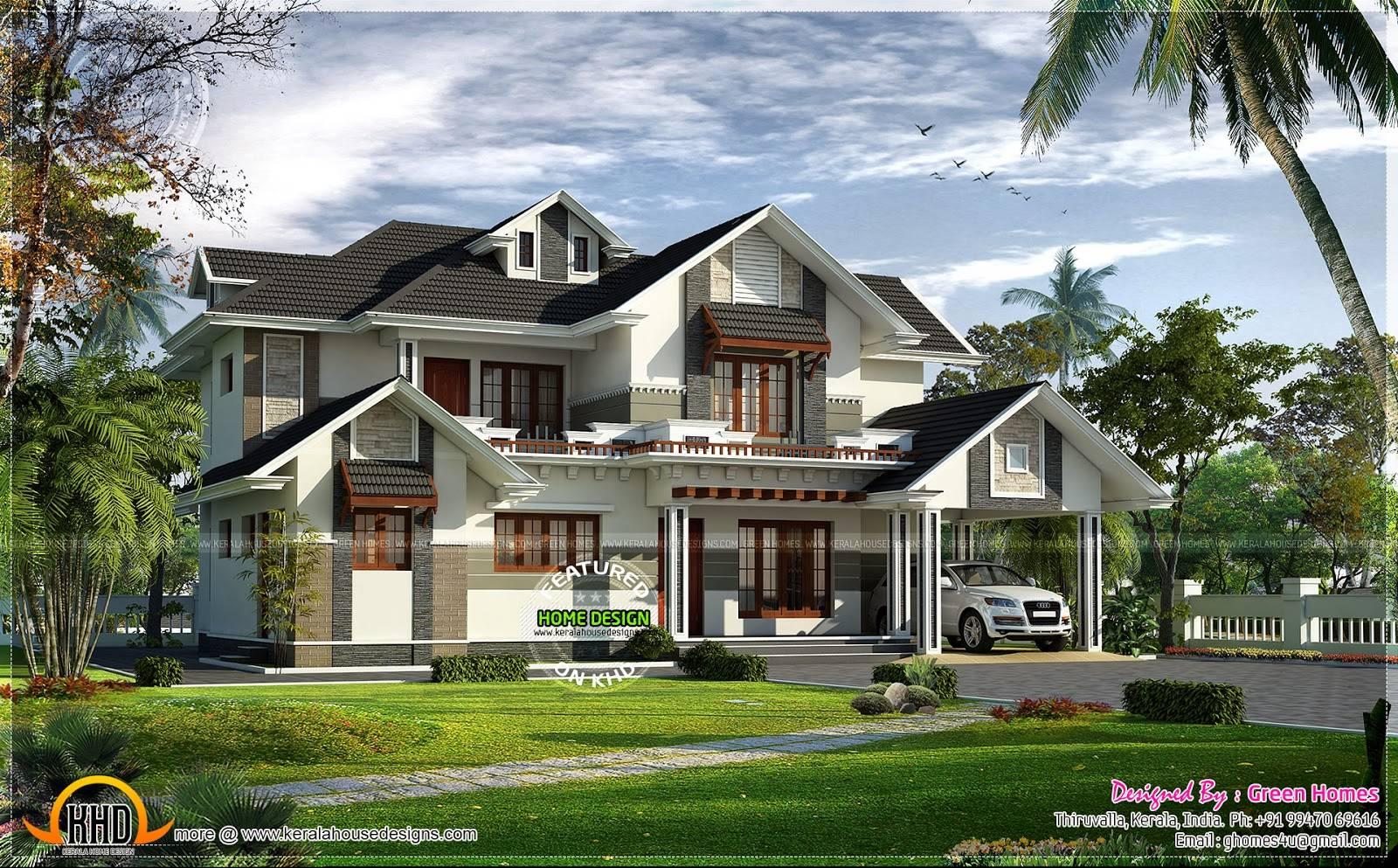 Stylish Sloping Roof Home Interior Design Floor Plans Designbup House Plans 11260
