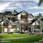 Stylish Sloping Roof Home Kerala Design Floor Plans