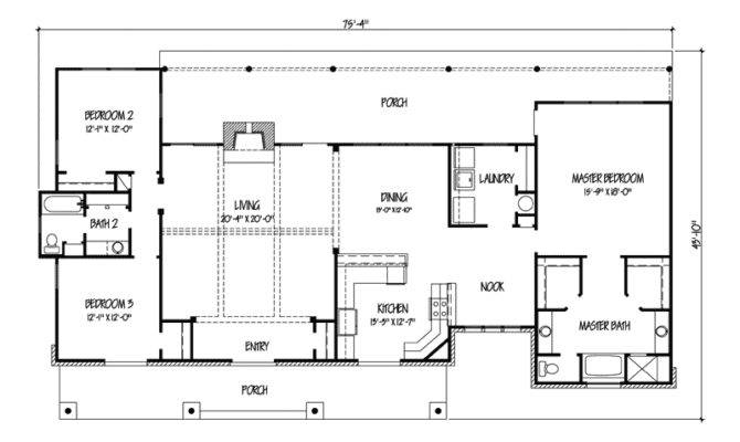 Sugar Tree Rustic Ranch Home Plan House Plans More