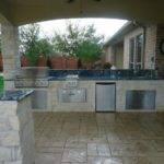 Summer Kitchen Fire Pit Eclectic Patio Houston