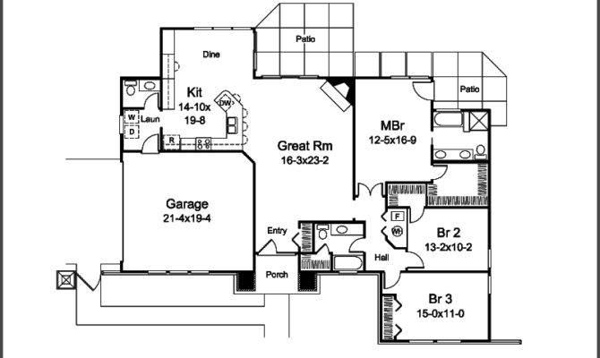 Sunbelt Home Plan First Floor House Plans More