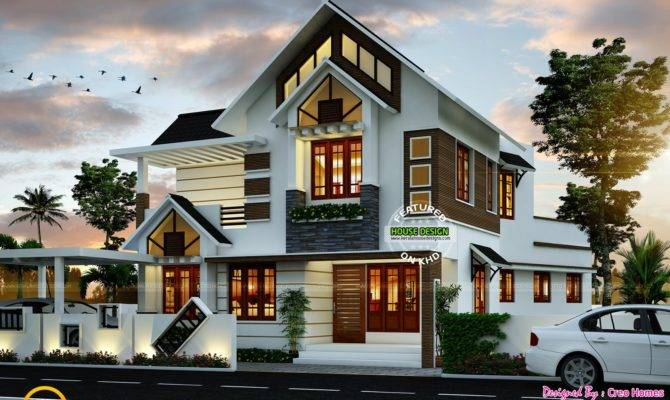 Super Cute Modern House Plan Kerala Home Design Floor Plans