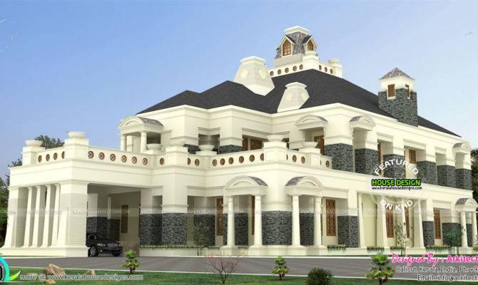 Super Luxury Colonial House Kerala Home Design Floor