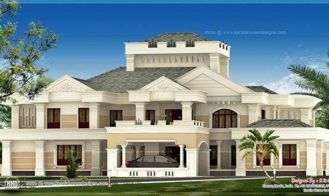 Super Luxury Kerala House Exterior Design Plans