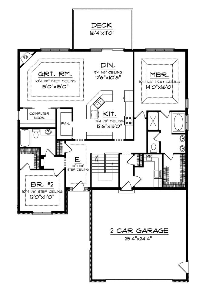 Superb House Plans Kitchens