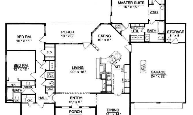 Superb Single Level Home Plans One House Plan