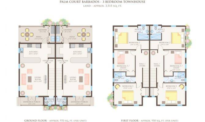 Surprisingly Story Townhouse Floor Plans