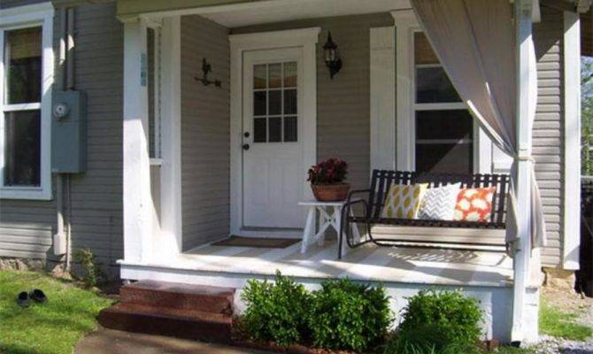 Swanky Small Front Porch Ideas Design Comfort Pillows Then Chair