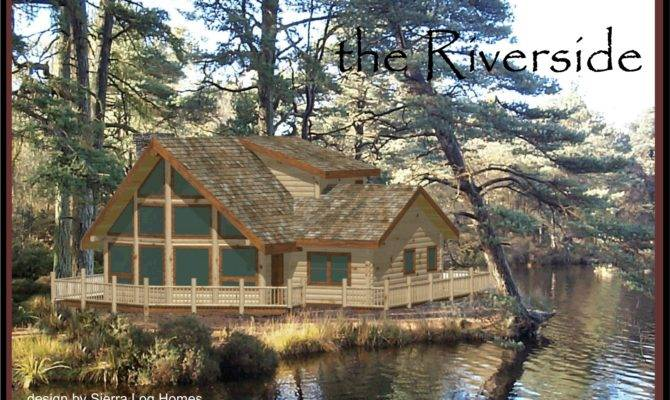 Simple 2 Storey Log Cabin Placement House Plans